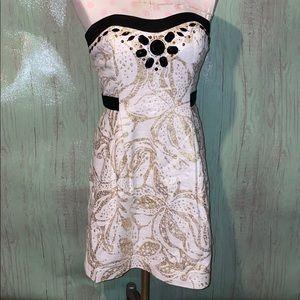 Lilly Pulitzer Sneak a Peek strapless dress size 4